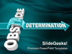 Obstacle Determination Business PowerPoint Background And Template 1210