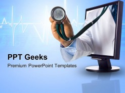 Online Health Checkup Internet PowerPoint Templates And PowerPoint Backgrounds 0411