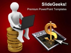 Online Making Money Business PowerPoint Backgrounds And Templates 1210