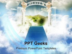 Paradise In Sky Religion PowerPoint Templates And PowerPoint Backgrounds 0411