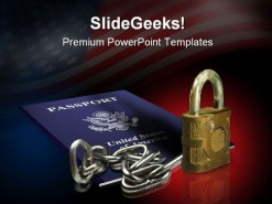 Passport Security Americana PowerPoint Backgrounds And Templates 1210