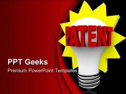 Patent Word On Light Bulb Business PowerPoint Templates And PowerPoint Backgrounds 0411