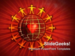 People Talk Globe PowerPoint Template 0810