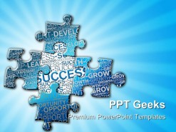 Pieces Of Puzzle Success PowerPoint Templates And PowerPoint Backgrounds 0411