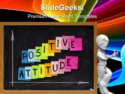 Positive Attitude Business PowerPoint Template 0510