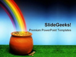 Pot Of Gold Metaphor PowerPoint Background And Template 1210