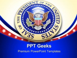 Presidential Seal Americana PowerPoint Templates And PowerPoint Backgrounds 0411