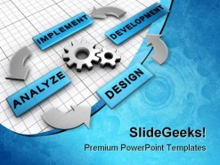 Process Organigram Business PowerPoint Backgrounds And Templates 1210