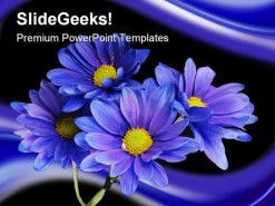 Purple Flowers Nature PowerPoint Template 0610