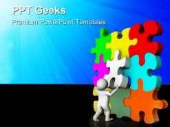Put Final Puzzle Business PowerPoint Templates And PowerPoint Backgrounds 0411