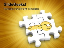 Puzzle Shapes PowerPoint Template 0910
