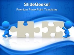 Puzzle Solution Symbol PowerPoint Template 0910