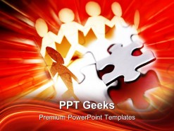 Puzzle Team Teamwork Business PowerPoint Templates And PowerPoint Backgrounds 0411