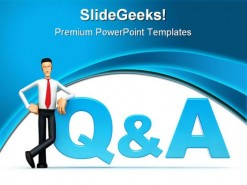 Qa People PowerPoint Template 0910