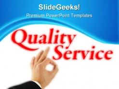 Quality Service Business PowerPoint Template 1110