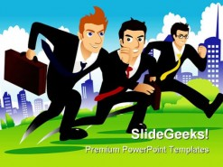 Race Business PowerPoint Template 0610