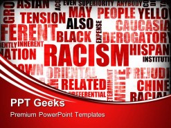Racism Words Global PowerPoint Templates And PowerPoint Backgrounds 0411