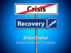 Recovery Crisis Finance PowerPoint Template 0910