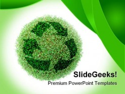 Recycle Environment PowerPoint Template 0910
