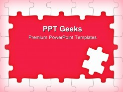 Red Puzzle Frame Business PowerPoint Templates And PowerPoint Backgrounds 0411