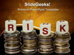 Risk Money Finance PowerPoint Template 0610