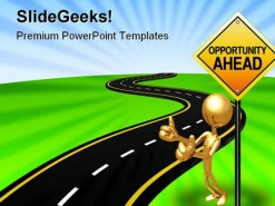 Road To Opportunity Business PowerPoint Template 0610