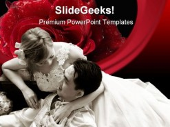 Romance Wedding PowerPoint Template 0610