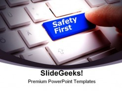 Safety First Computer PowerPoint Backgrounds And Templates 1210
