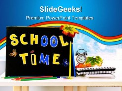 School Time Education PowerPoint Template 1110