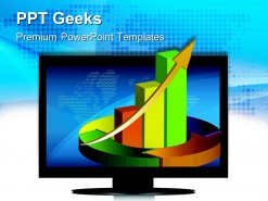 Screen Showing Business Graph Sales PowerPoint Templates And PowerPoint Backgrounds 0411