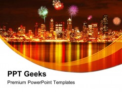 Seattle Fireworks Festival PowerPoint Templates And PowerPoint Backgrounds 0411