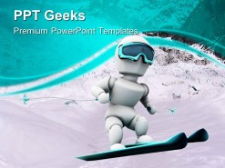 Skiing People PowerPoint Templates And PowerPoint Backgrounds 0411