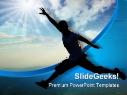 Sky Jump Nature PowerPoint Template 0810