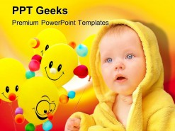 Smiley Child Baby PowerPoint Templates And PowerPoint Backgrounds 0411