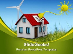 Solar Energy Science PowerPoint Template 0910