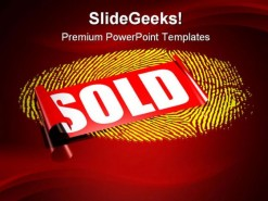 Sold Personal Data Security PowerPoint Template 0910