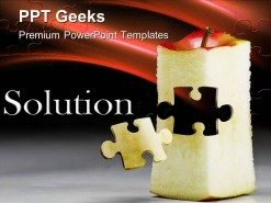 Solution Puzzle Business PowerPoint Templates And PowerPoint Backgrounds 0411