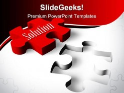 Solution Puzzle Shapes PowerPoint Template 0910