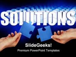 Solutions Business PowerPoint Backgrounds And Templates 1210