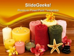 Spa Candles Beauty PowerPoint Template 1110