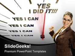 Speedometer Yes I Can Business PowerPoint Template 1110