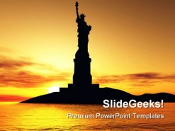 Statue Of Liberty Americana PowerPoint Template 1110