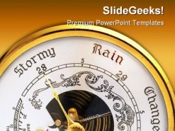 Stormy Weather Nature PowerPoint Template 0910