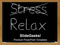 Stress Relax Business PowerPoint Template 0610