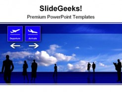 Stylized Airport Travel PowerPoint Background And Template 1210