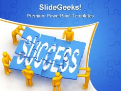 Success Teamwork PowerPoint Template 0610