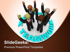 Successful Team Teamwork PowerPoint Background And Template 1210