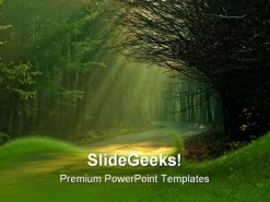 Sunbeams Nature PowerPoint Template 0610