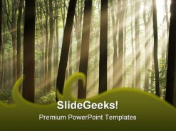 Sunlight Nature PowerPoint Template 0510