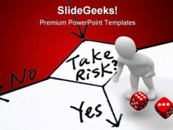 Take Risk Business PowerPoint Template 0610